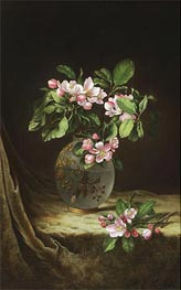 Apple Blossoms in an Opalescent Vase, c.1883/85 by Martin Johnson Heade | Painting Reproduction