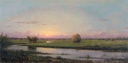 Sunset over Newburyport Meadows, 1904 by Martin Johnson Heade | Painting Reproduction