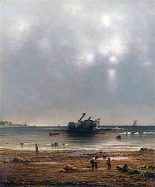 The Old Shipwreck, 1865 by Martin Johnson Heade | Painting Reproduction