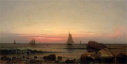 Sailing off the Coast | Martin Johnson Heade | Painting Reproduction