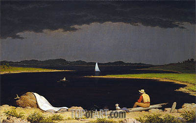 Approaching Thunder Storm, 1859 | Martin Johnson Heade | Painting Reproduction