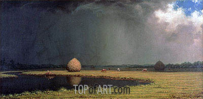 Salt Marsh Hay, c.1865 | Martin Johnson Heade | Painting Reproduction