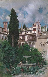 A Spanish Garden | Martin Rico y Ortega | Painting Reproduction