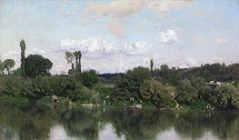 On the Seine | Martin Rico y Ortega | Painting Reproduction