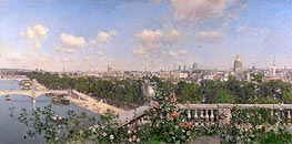 View of Paris, 1883 by Martin Rico y Ortega | Painting Reproduction