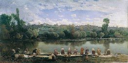 Washerwomen at the Varenne River | Martin Rico y Ortega | Painting Reproduction