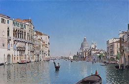 A Gondola on the Grand Canal | Martin Rico y Ortega | Gemälde Reproduktion