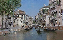 Rio San Trovaso, Venice, undated by Martin Rico y Ortega | Painting Reproduction