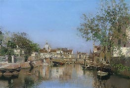 A Canal near the Isle of Giudecca, undated by Martin Rico y Ortega | Painting Reproduction
