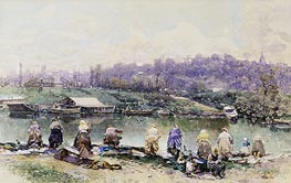 The Washerwomen | Martin Rico y Ortega | Painting Reproduction