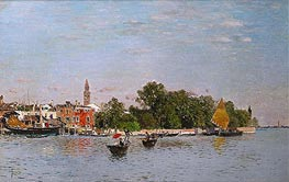 The Public Gardens, Venice, undated by Martin Rico y Ortega | Painting Reproduction