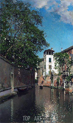 Canal in Venice, c.1880/90 | Martin Rico y Ortega | Painting Reproduction