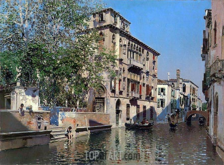 A Canal in Venice, c.1875 | Martin Rico y Ortega | Painting Reproduction
