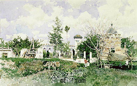 Seville, 1875 | Martin Rico y Ortega | Painting Reproduction