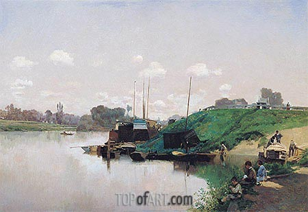 A Summer's Day on the Seine, c.1870/75 | Martin Rico y Ortega | Painting Reproduction