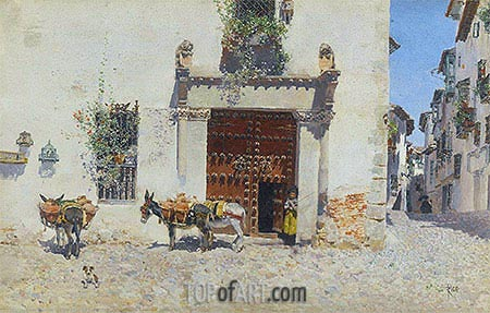 Waiting, 1875 | Martin Rico y Ortega | Painting Reproduction