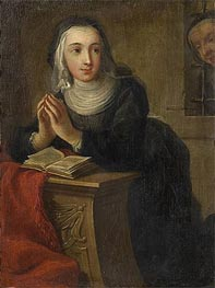 Kneeling Nun (Verso), c.1731 by Martin van Meytens | Painting Reproduction