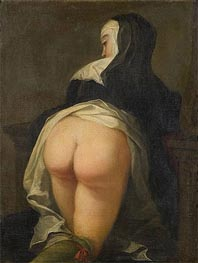 Kneeling Nun (Recto), c.1731 by Martin van Meytens | Painting Reproduction