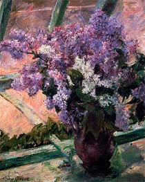 Lilacs in a Window, c.1880 von Cassatt | Gemälde-Reproduktion