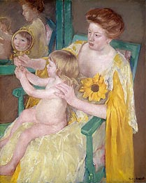 The Mirror (Mother and Child) | Cassatt | Painting Reproduction