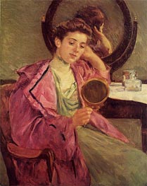Woman at Her Toilette, 1909 von Cassatt | Gemälde-Reproduktion