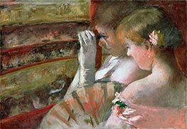 A Corner of the Loge (In the Box) | Cassatt | Painting Reproduction