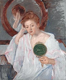 Denise at Her Dressing Table, c.1908/09 von Cassatt | Gemälde-Reproduktion