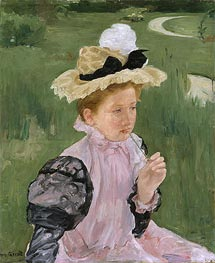 Portrait of a Young Girl | Cassatt | Gemälde Reproduktion