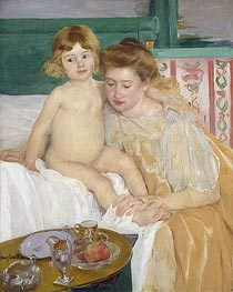 Mother and Child (Baby Getting Up from His Nap), c.1899 von Cassatt | Gemälde-Reproduktion
