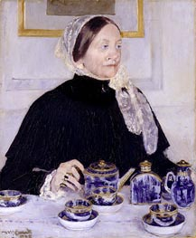 Lady at the Tea Table, c.1883/85 von Cassatt | Gemälde-Reproduktion