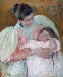 Nurse and Child, c.1896/97 von Cassatt | Gemälde-Reproduktion