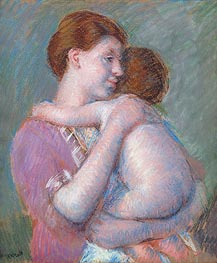 Mother and Child, 1914 von Cassatt | Gemälde-Reproduktion