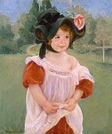 Spring: Margot Standing in a Garden | Cassatt | Painting Reproduction