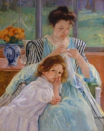 Young Mother Sewing | Cassatt | Painting Reproduction