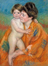 Woman with Baby, c.1902 by Cassatt | Painting Reproduction
