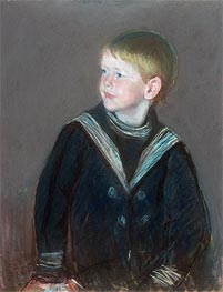 Sailor Boy: Portrait of Gardner Cassatt as a Child | Cassatt | Gemälde Reproduktion