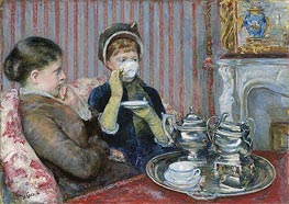 The Tea | Cassatt | Gemälde Reproduktion