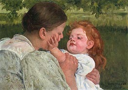 Maternal Caress | Cassatt | Gemälde Reproduktion