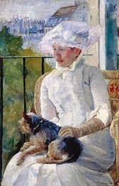 Young Girl at a Window, c.1883/84 by Cassatt | Painting Reproduction
