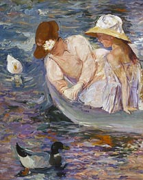 Summertime, 1894 by Cassatt | Painting Reproduction