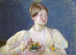 The Teacup, 1897 by Cassatt | Painting Reproduction