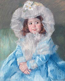 Margot In Blue | Cassatt | Gemälde Reproduktion