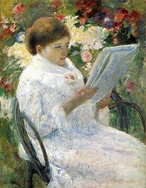 Lydia Cassatt Reading, c.1878/79 by Cassatt | Painting Reproduction