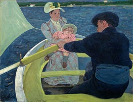 The Boating Party, c.1893/94 by Cassatt | Painting Reproduction