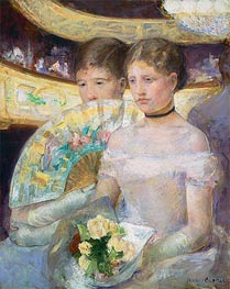 The Loge, 1882 by Cassatt | Painting Reproduction