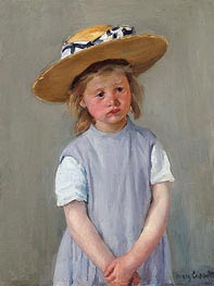 Child in a Straw Hat, c.1886 by Cassatt | Painting Reproduction