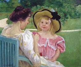 In the Garden | Cassatt | Painting Reproduction