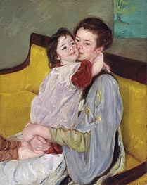 Maternal Caress | Cassatt | Painting Reproduction