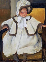 Ellen Mary in a White Coat, c.1896 by Cassatt | Painting Reproduction