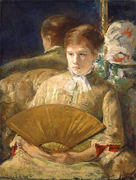 Woman with a Fan (Miss Mary Ellison), c.1878/79 by Cassatt | Painting Reproduction